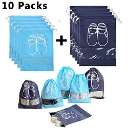 Household Travel Dust-proof Shoe Organizer Bags,Drawstring,Transparent Window,Space Saving Stora ...