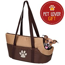 Pet Carrier Bag, Airline Approved Under Seat Soft-Sided Travel Pet Carrier with Plush Bed for Do ...