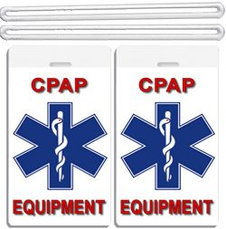 2x Medical CPAP Equipment Luggage Tags TSA Carry-On CPAP BiPAP APNEA POC APAP Respiratory Device