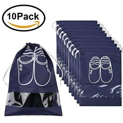 Pack of 10 Portable Dust-proof Breathable Travel Shoe Organizer Bags for Boots, High Heel — ...
