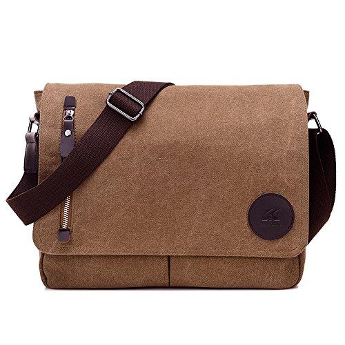 768e38925fb3 ELEOPTION Men s Canvas Messenger Backpack Crossbody Shoulder Bag for Working  Business Hiki .