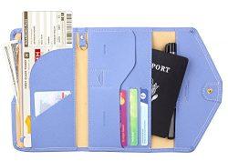Zoppen Multi-purpose Rfid Blocking Travel Passport Wallet (Ver.4) Tri-fold Document Organizer Ho ...
