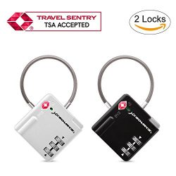 TSA Lock 2pcs Suitcase Luggage Lock Travel Backpack 3-Digit Combination Security Padlock with Op ...