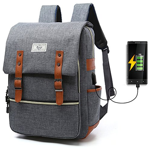 667c115c2b90 Unisex College Bag Fits up to 15.6'' Laptop Casual Rucksack ...