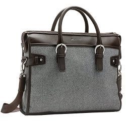 Handbag Luggage Laptop Bag – Briefcase Fits 13 to 14 Inch Notebook (Brown)