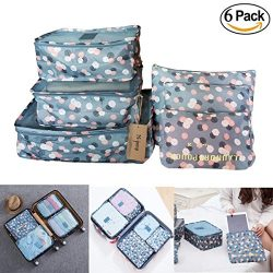 M-jump 6 Set Travel Storage Bags Multi-functional Clothing Sorting Packages,Travel Packing Pouch ...