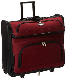 Travel Select Amsterdam Rolling Garment Bag Wheeled Luggage Case, Red (23-Inch)