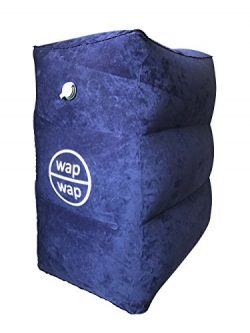 Travel Pillow for Airplanes for Kids, wapwap Travel Accessories Inflatable Footrest Travel Bed,  ...
