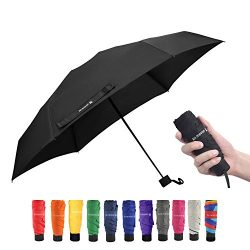 Travel Compact Umbrella Small Mini Umbrella for Backpack, Purse, Pocket – Fits Adults &amp ...