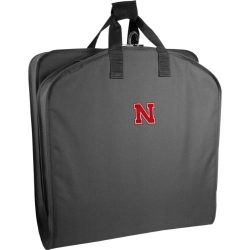 WallyBags Nebraska Cornhuskers 40 Inch Suit Length Garment Bag ,Black NE ,One Size