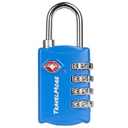 TSA Luggage Locks with 4 Digit Combination – Heavy Duty Set Your Own Padlocks for Travel, Baggag ...