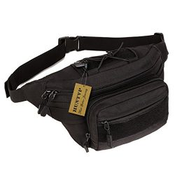 Huntvp Military Hip Fanny Pack Tactical Waist Bag Packs Waterproof Hip Belt Bag Pouch for Hiking ...