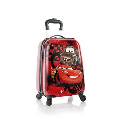Heys Disney Kids Spinner Luggage – Cars Carry on Suitcase 18 Inch
