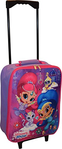 Nickelodeon Shimmer And Shine Girl's 15″ Collapsible Wheeled Pilot Case – Roll ...