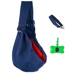 Pet Sling Carrier by IMOEsol – Reversible Bag with Adjustable Strap and Zipped Pocket – Tr ...