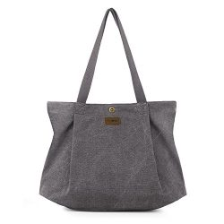 SMRITI Canvas Tote Bag for Women School Work Travel and Shopping – Light grey