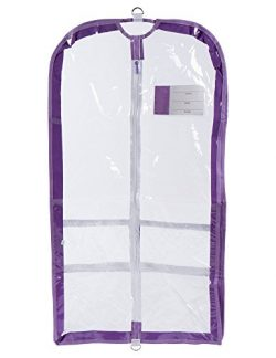 Clear Plastic Garment Bag with Pockets for Dance Competitions Danshuz – Lavender