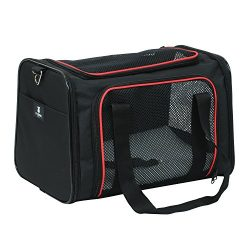 X-ZONE PET Airline Approved Pet Carriers,Soft Sided collapsible Pet travel Carrier for medium ca ...