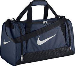 Nike BA4831401 Brasilia 6 S Duffel Grip Gym Bag Midnight Navy