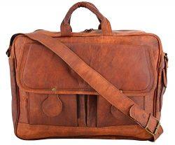 Shakun Leather Messenger Bag Briefcase Laptop Bag Computer Shoulder Satchel NEW