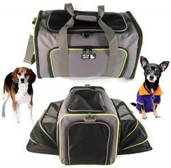 Pet Carrier for Dogs & Cats – Airline Approved Premium Expandable Soft Animal Carriers ...