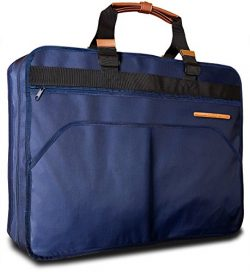 Uinvent 40″ Garment Bag for Travel or Business Trips w/ Features an Adjustable Shoulder St ...