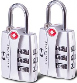 Alpine Rivers UltraTuff TSA Approved Lock with RED OPEN ALERT Indicator for Travel Luggage & ...