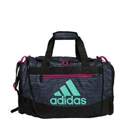 adidas Women's Defender III small duffel Bag, Green/Bahia Magenta, One Size