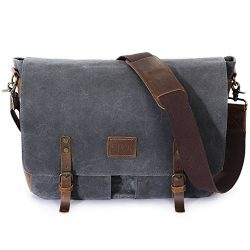 Lifewit Wax Canvas Messenger Bag Cross Body Laptop Conputer shoulder Bag