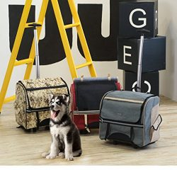 Pet Carrier,Petera Pet Rolling Carrier Back Pack Airline Approved Dog Cat Wheel Around Luggage B ...