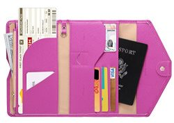 Zoppen Mulit-purpose Rfid Blocking Travel Passport Wallet (Ver.4) Trifold Document Organizer Hol ...