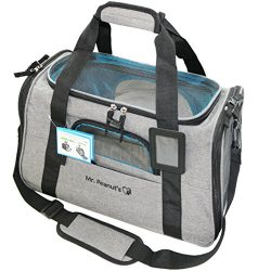 """Premium Airline Approved Soft Sided Pet Carrier by Mr. Peanut's, 18LX10.4WX11H"""" Luxu ..."""