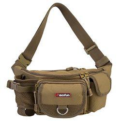 Piscifun Fishing Bag Portable Outdoor Fishing Tackle Bags Multiple Waist Bag Multi Functional Fa ...