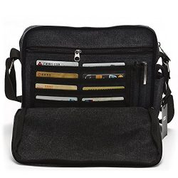 Harwish Men's Multifunctional Canvas Messenger Handbag Outdoor Sports Over Shoulder Crossb ...
