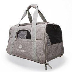 Jet Sitter Super Fly Airline Approved Pet Carrier Bag – TSA Travel Carriers Cat Dog Small Dogs