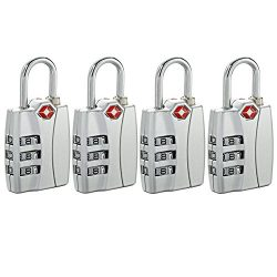 Newtion TSA Approved Luggage Locks With Open Alert Travel Security 3 Digit Combination Password  ...