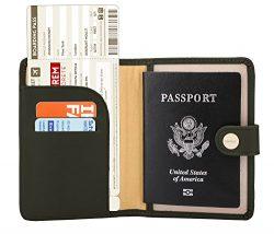 Zoppen Rfid Blocking Travel Passport Holder Cover Slim Id Card Case (#29 Army Green)