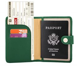 Zoppen Rfid Blocking Travel Passport Holder Cover Slim Id Card Case (31# Grass Green)