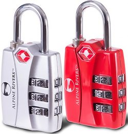 UltraTuff TSA Approved Lock – RED OPEN ALERT Indicator for Luggage & GYM Lockers