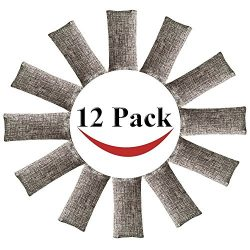 12 Pack Natural Air Purifying Bags and Odor Remover, Shoe Deodorizer and Odor Eliminator 100% Na ...