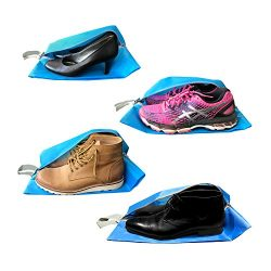 Travel Shoe Bags – Shoe Storage Bags for Travel with Zippers – Blue – 4 Pack by the Journe ...