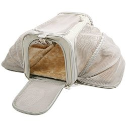 Jet Sitter Luxury Expandable Airline Approved Pet Dog Cat Carrier – TSA Travel Soft Sided  ...