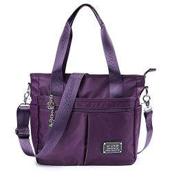 TENXITER Nylon Crossbody Bags for Women with Pockets,Tote Large Capacity Travel shoulder bag Han ...