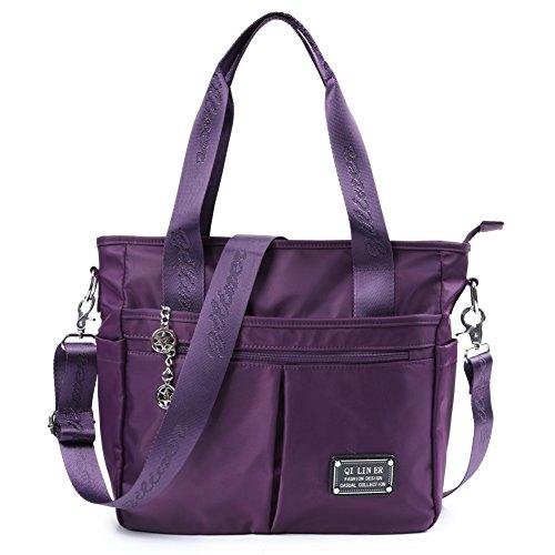 016eccf6e5e46 TENXITER Nylon Crossbody Bags for Women with Pockets