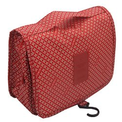 ITraveller Portable Hanging Toiletry Bag, Red