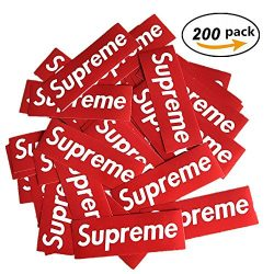 Supreme Stickers Waterproof,200 pcsCool DIY Stickers ,Perfect To Graffiti Your Laptop,Macbook,S ...