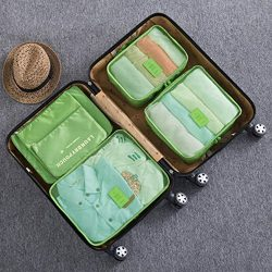 6pc Waterproof Travel Luggage Organizer Storage bag Durable Packing Compression Pouches 3 Travel ...