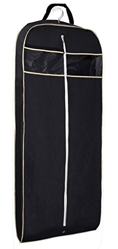Misslo Breathable 43″ Black Travel Garment Bag, Clear Zipper Pocket Suit Garment Cover for ...