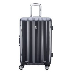 Delsey Luggage Aero Frame Expandable 25 Inch Spinner, Silver