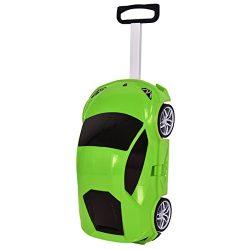 Goplus Kids Luggage Rolling Car Design Travel Suitcase for Toddler (Green)